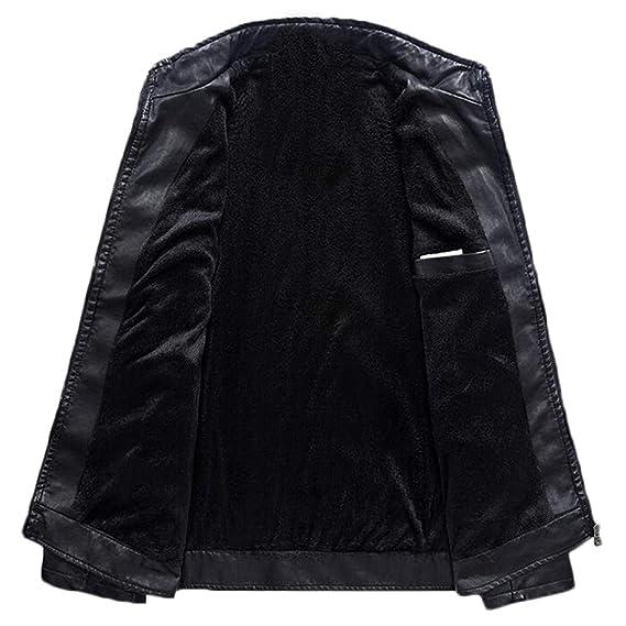 Amazon.com: Leather JacketSlim Fit Pu Biker Motorcycle Leather Jackets Mens Fashion Plus Size 5XL 6XL Warm Stand Collar Coats: Clothing