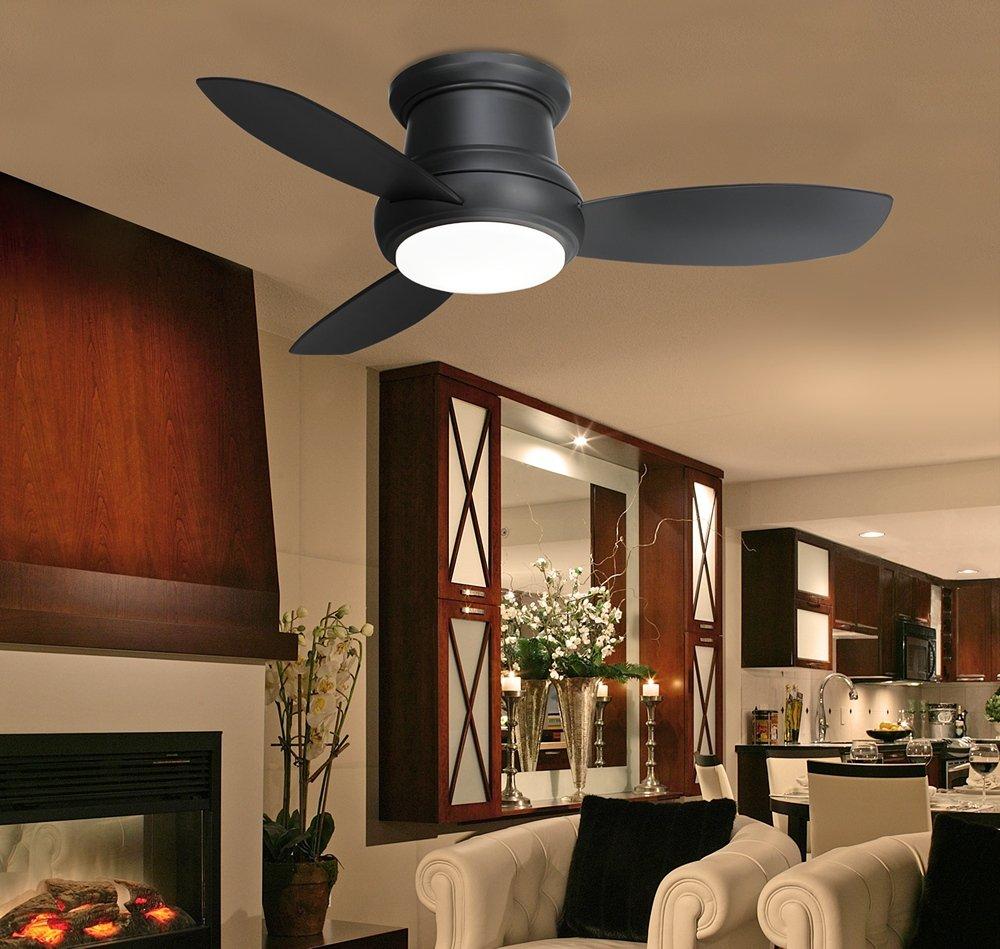"Amazon 44"" Minka Concept II Hugger Matte Black Ceiling"