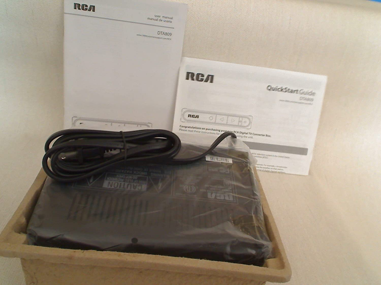 amazon com rca dta809 dtv digital tv converter box electronics rh amazon com Old RCA Manuals Old RCA Manuals