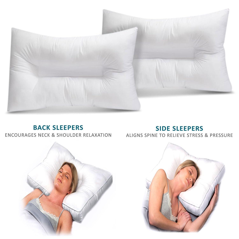 1 x Pillow Kensingtons/® Premium Orthopaedic Hollowfibre Anti Snoring Neck Support Pillow Non Allergy Snoring Relieve Hypoallergenic