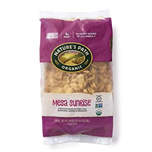 Nature's Path Mesa Sunrise Cereal, Healthy, Organic & Gluten Free, 26.4 Ounce Bag (Pack of 6)