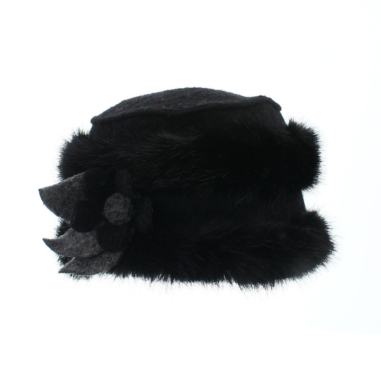 votrechapeau - Gorro - Sombrero Lana y Pelo sintético - Edwige - Mujer  Blanco Talla única  Amazon.es  Ropa y accesorios 57f2267dee8