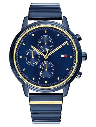 Tommy Hilfiger Reloj Multiesfera para Mujer de Cuarzo con Correa en Acero Inoxidable 1781893: Amazon.es: Relojes