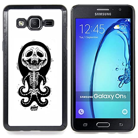 Planetar ( Schädel Lustige Krake Anatomie Weiß ) Samsung Galaxy On5 ...
