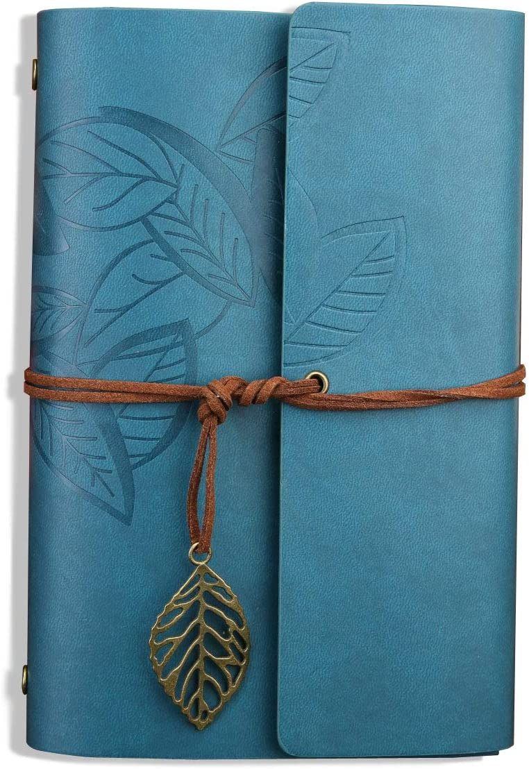 5.7 X 4.1 Blue Leather Writing Notebook,Goaup Handmade Refillable Vintage Notebook Journal for Men /&Women,Art Sketchbook Travel Diary Perfect Present