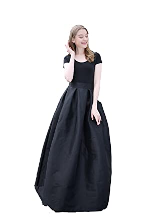 a3af8af5238 Brightmenyouth Women s High Waisted A line Street Skirt Skater Pleated Full  Midi Shiny Skirt Prom Skirts