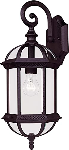 Savoy House 5-0630-BK One Light Wall Mount Lantern