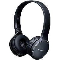 PANASONIC RP-HF410B Audífono de Diadema Bluetooth, 24hrs de reproducción inalámbrica, control inteligente por voz, manos libres, sistema de bajos extra (XBS), plegables, muy ligeros (130g) Color NEGRO