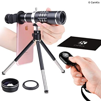 Universal 3in1 Lens Kit with Shutter Blautooth Remote Control Camera Shutter with 65e5ff