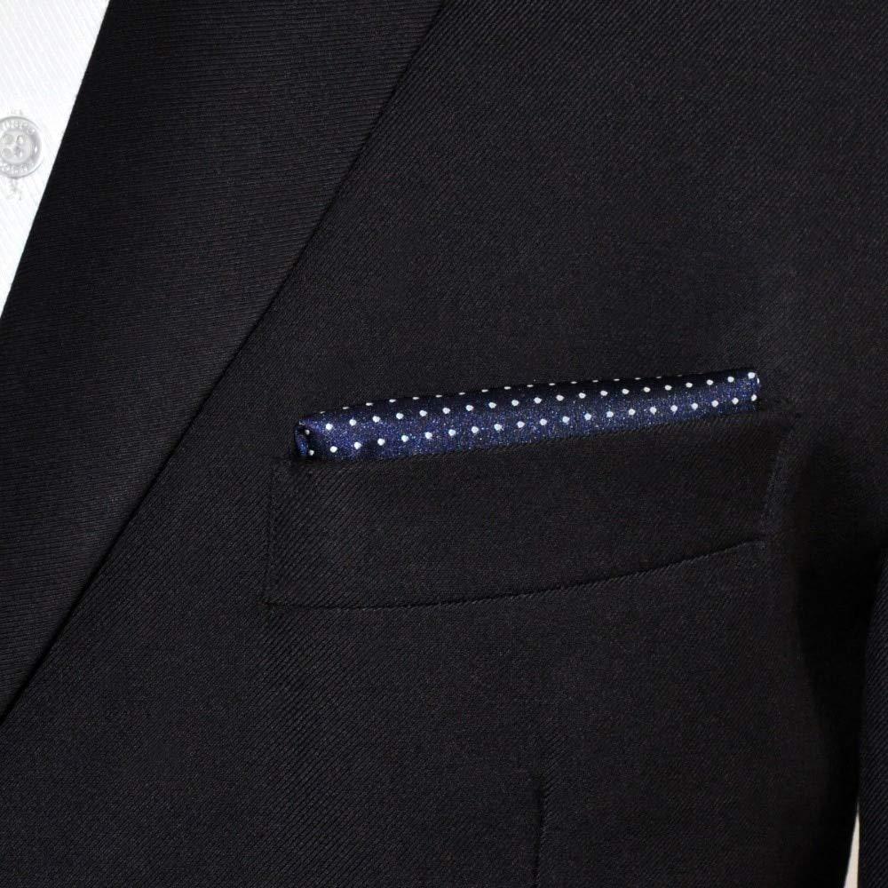 Shlax/&Wing Dots Blue Navy White Pocket Square Mens Ties Silk Hanky