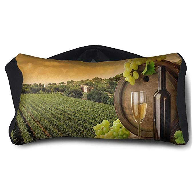 Amazon.com: Eye Mask Eye Pillow Field Grapes Glass Wine ...