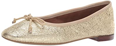 ebd4445b4aaa Aerosoles Women's Martha Stewart Homerun Ballet Flat Gold Leather 8.5 ...
