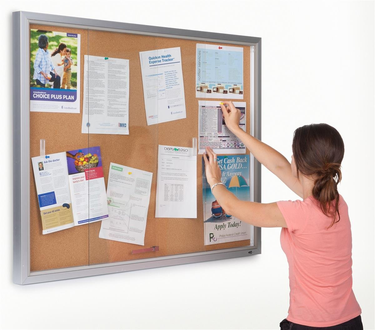 Beau Amazon.com : Displays2go 48 X 36 Inches Enclosed Bulletin Board For Wall  Mount   Silver Aluminum Frame (CBSD43SV) : Business And Store Sign Holders  : Office ...