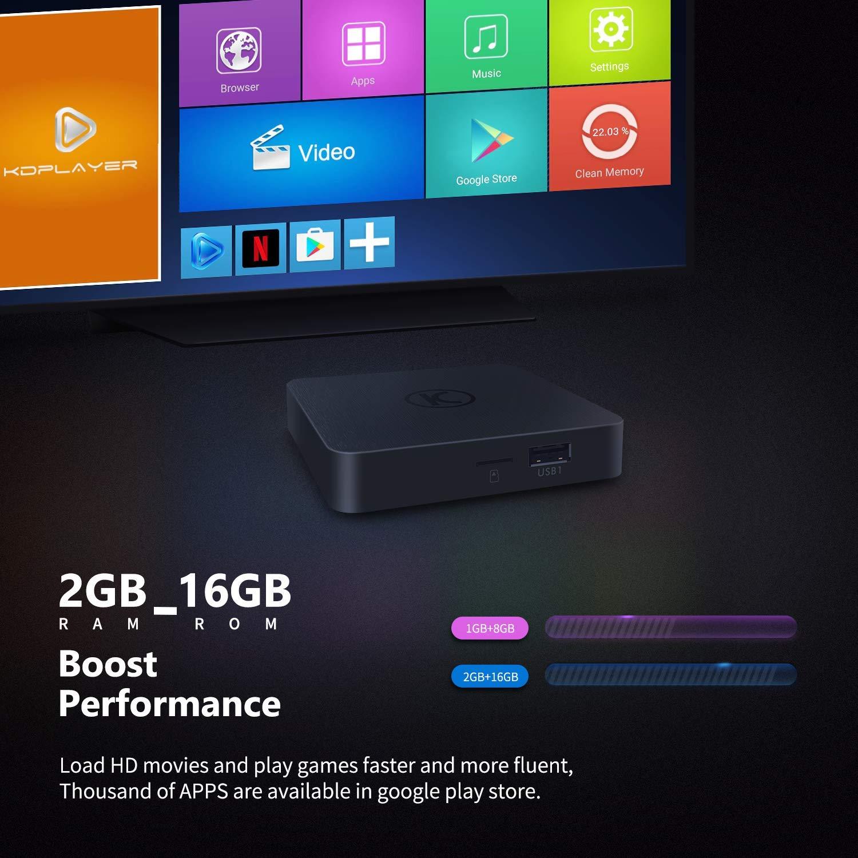 VANKYO MatrixBox X95A 4K Android TV Box, Ultra HD 2GB RAM 16GB ROM TV Streaming Player w/ Amlogic S905W 64 Bits Quad Core Processor  by vankyo (Image #4)