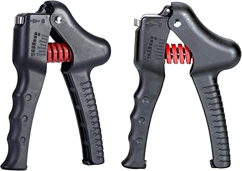 MFlame Grip Strengthener, 2Pack Adjustable Hand Gripper Exerciser 55lb-154lb Grip Strength Trainer for Hands Training and Recovery