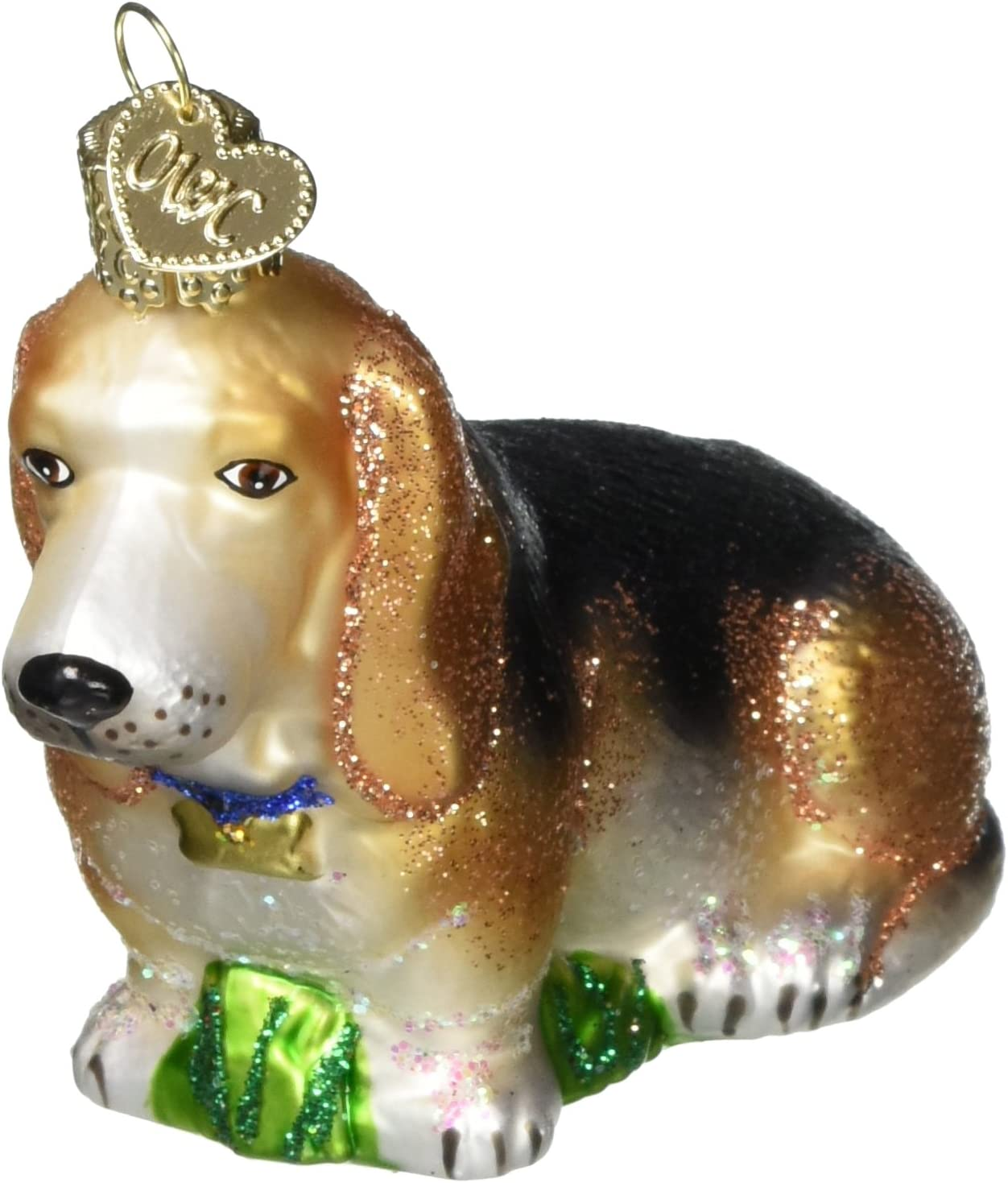 Old World Christmas Boxer Dog Glass Blown Ornament