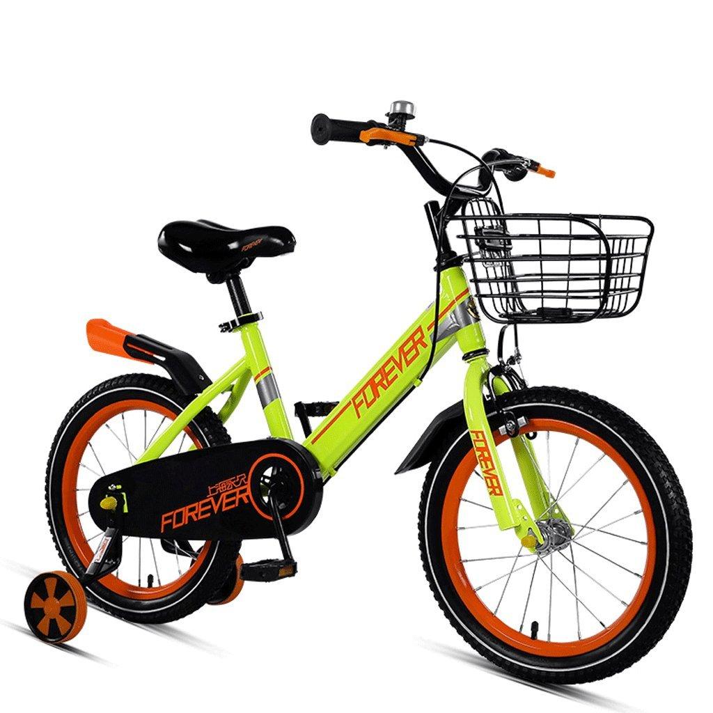 子供の自転車3-10歳の赤ちゃんのバイク男の子と女の子の生徒の子供のベビーカー (色 : 緑, サイズ さいず : 12インチ) B07D6LVCL9 12インチ|緑 緑 12インチ