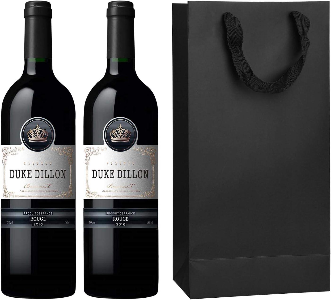 IPENNY Lot de 10 sachets pour Bouteille de vin avec Anse 11 x 9 x 35 cm 17 x 9 x 35 cm 17 x 9 x 35 cm 1 Bouteille Rouge.