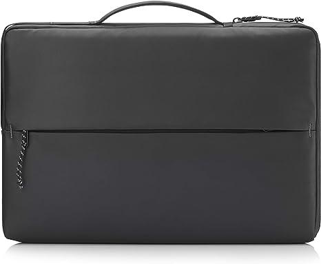 HP - PC Funda Deportiva para portátil de hasta 14 Pulgadas, Compartimento para Ordenador Acolchado, Detalles Reflectantes, Bolsillos organizadores, Tela Impermeable y Robusta, Color Negro
