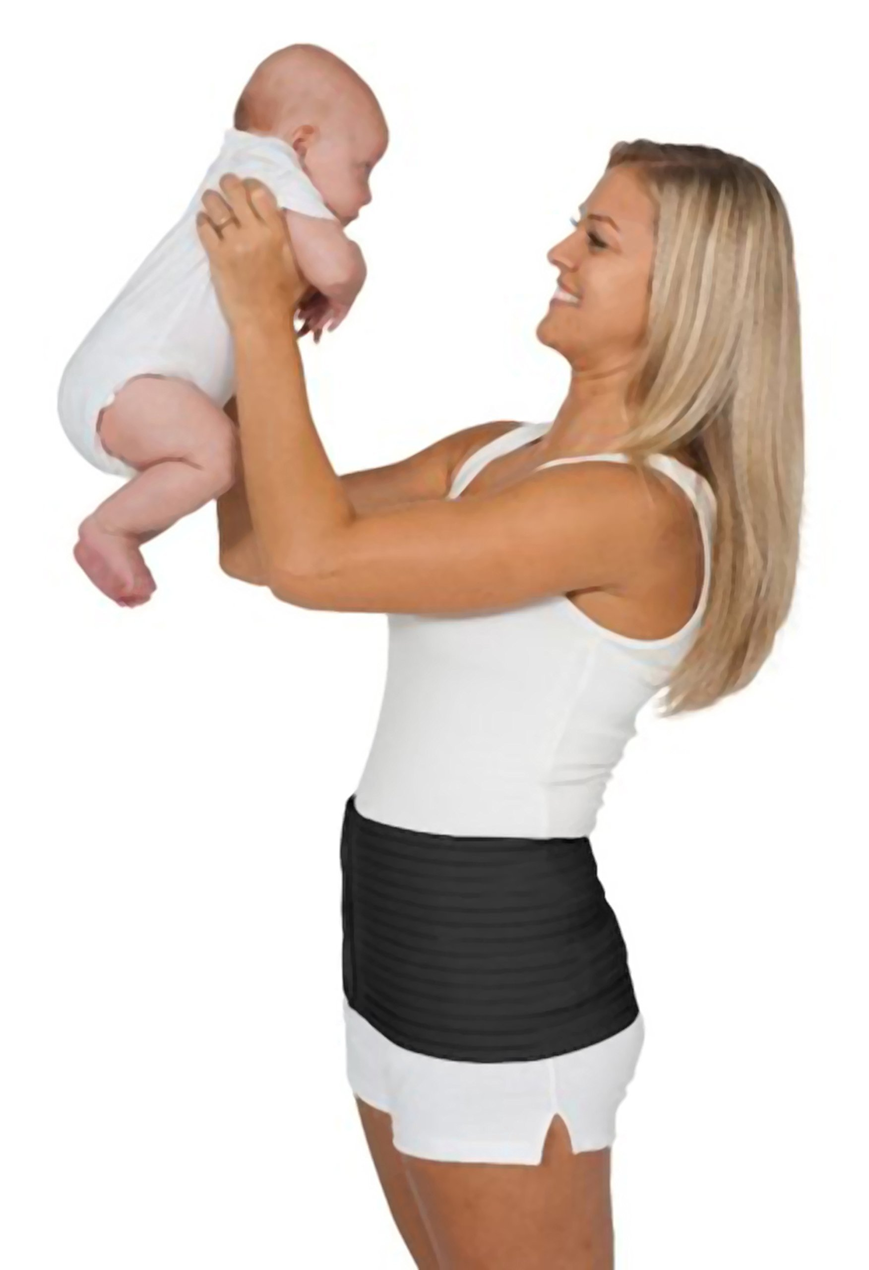 The''Original'' Postpartum Support Belt - by Loving Comfort - Adjustable Abdominal Support for Postnatal and C-Section Recovery - Black - Medium