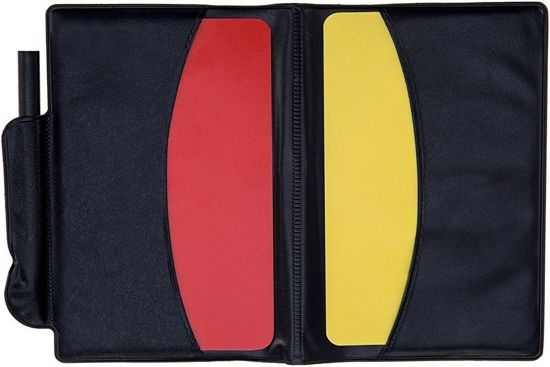 rot gelb Karte und Edelstahl Metall Trainer Pfeife f/ür Fu/ßball Giveet Metall Pfeife mit Sport Schiedsrichter Kartenset