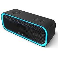 DOSS SoundBox Pro Altoparlante Portatile Wireless, Cassa Bluetooth con 360° Suono, Basso Potente, Stereo abbinato, multiplo Luce a led, 12 Ore di Riproduzione,Nero