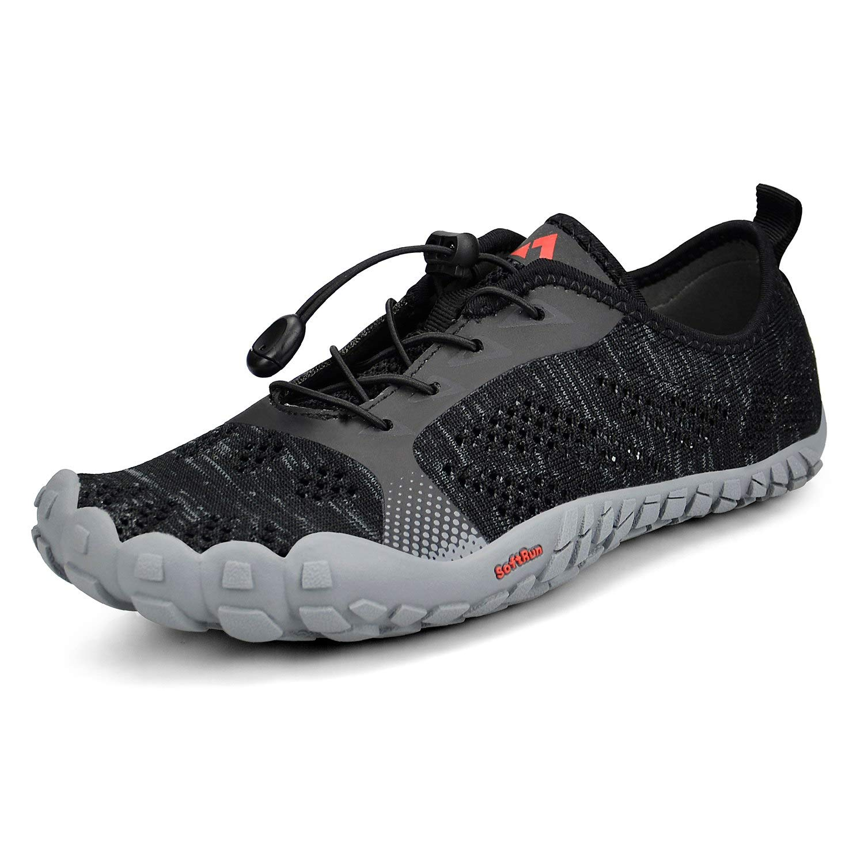 Troadlop Men's Running Sneaker Hiking Camp Outdoor Minimalist Shoes Black6.5