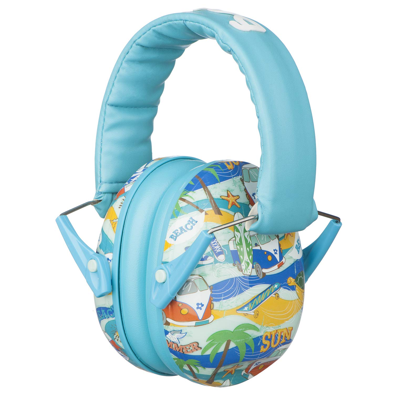 Snug Kids Earmuffs/Best Hearing Protectors - Adjustable Headband Ear Defenders For Children and Adults (Beach) by Snug