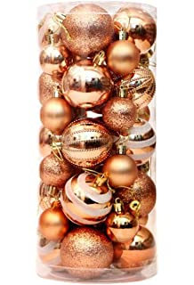 36 Pieces Christmas Baubles Novelty Coloured Bright Matte Finish Tree Decorations Ball
