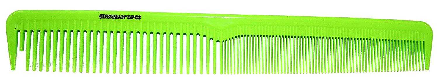 Denman Cutting Comb Lime Green 175mm