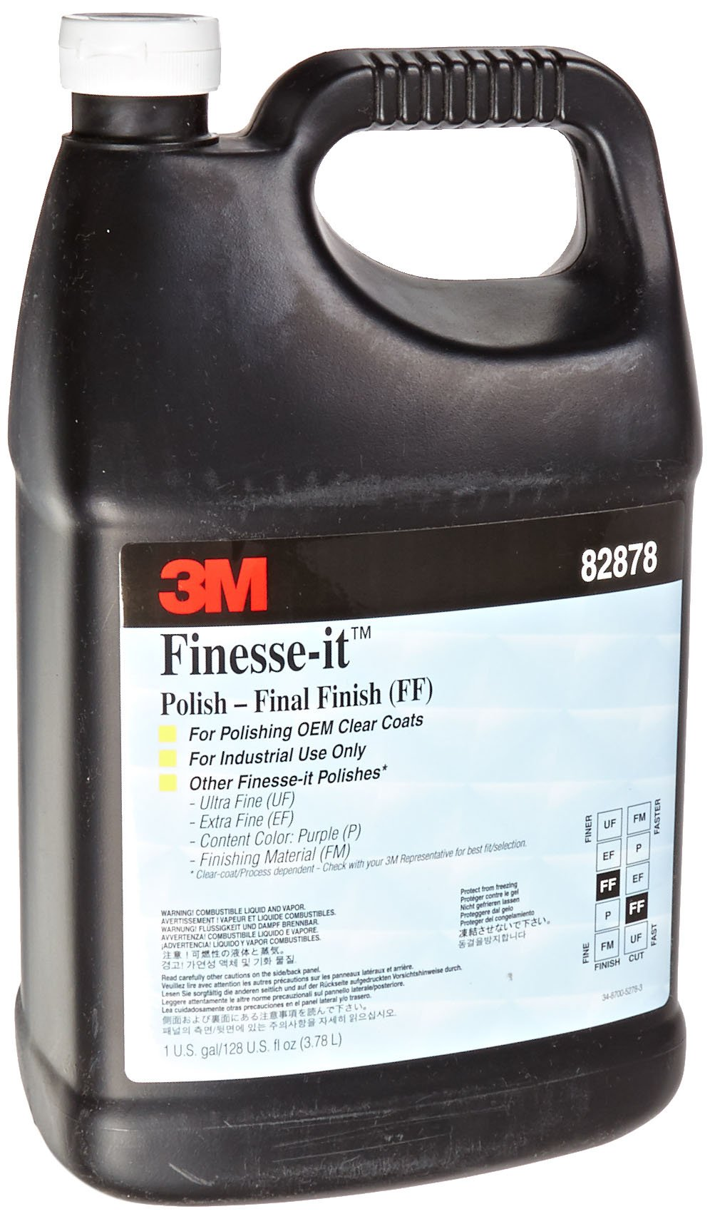 3M Finesse-it Final Finish 82878 Gray, 1 Gallon Can (Pack of 1)