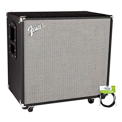 Fender Rumble 115 CABINET V3 with Performance Series Instrument Cables for electric guitar, bass guitar