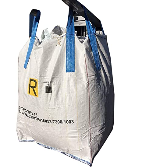 SACCONI BIG BAG OMOLOGATI per rifiuti pericolosi ADR 13H3 Y 90x90x120cm 5 pz abe38f725e2c2