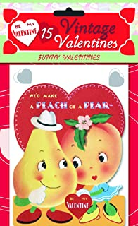 15 Vintage Valentines: Funny Valentines: 15 Die Cut Cards In Bag With  Decorated
