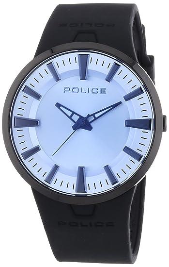 Police Dakar - Reloj de Cuarzo para Hombre, con Correa de Acero Inoxidable, Color Gris: Amazon.es: Relojes