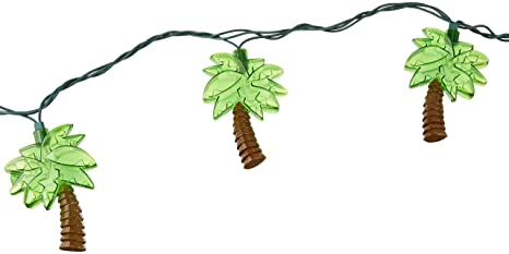 Amscan Palm Tree Patio String Lights, 6 Feet