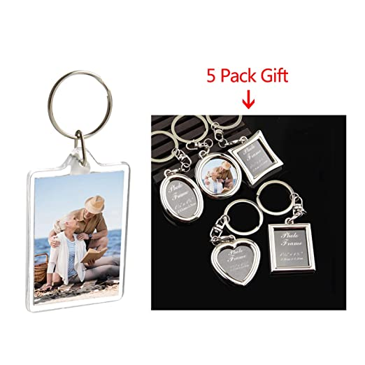 Amazon.com: Picture Frame Keyring| Acrylic Photo Snap-in ...