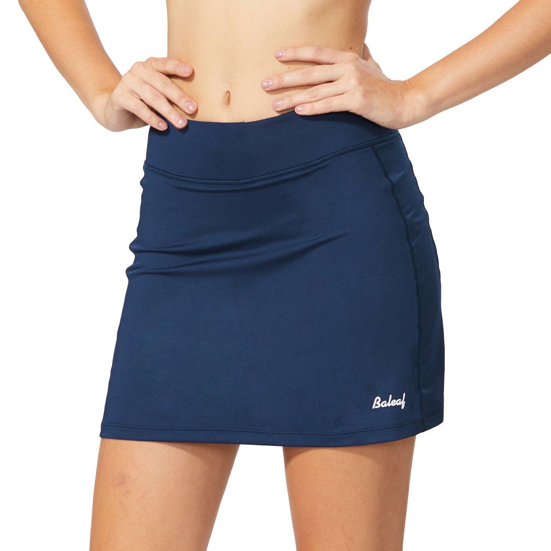 Baleaf Women's Active Athletic Skort Lightweight Skirt with Pockets for Running Tennis Golf Workout Navy Size M