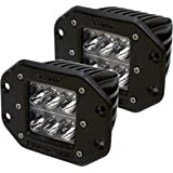 Rigid Industries 51211 D2 Wide LED LightFlush Mount, (Set of 2)