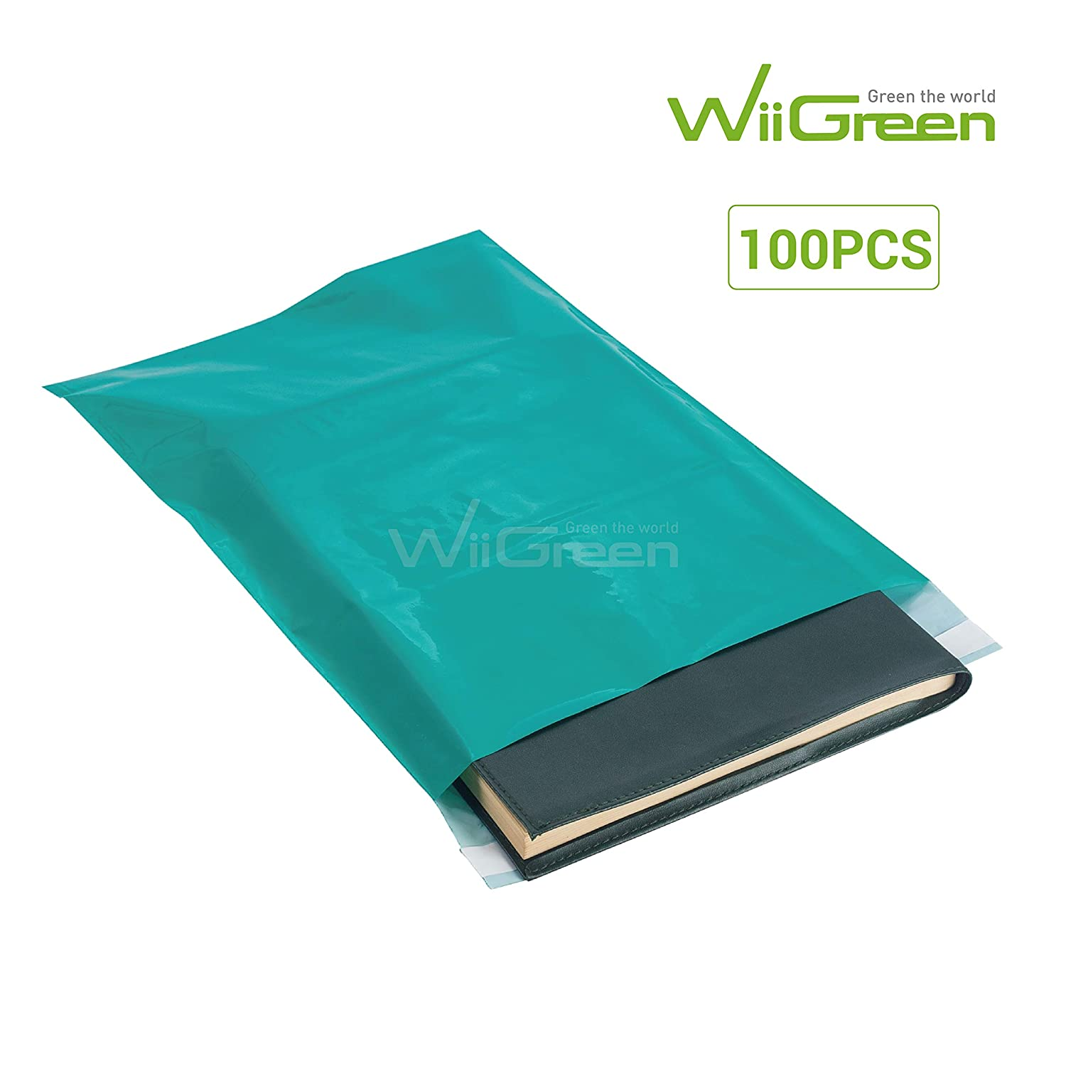 White WiiGreen #4 300 PCS 11x15x2MIL Poly Mailers Shipping Envelopes Packaging Bags Enhanced Durability Multipurpose Postal Gift Bags with Self Adhesive Waterproof and Tear-Proof