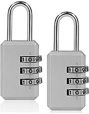 ISIYINER Candados Combinación,Candado de Seguridad ISYINER Combinaciones de 4 Dígitos para Gimnasio Maleta Caja de Herramientas Gabinete Puerta Cobertizo Almacenamiento Equipaje[2PACK]