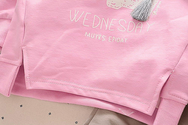 3ebf35b0835cc ... BomDeals Cute Cat Elephant Print Toddler Baby Girls Clothes Set,Long  Sleeve T-Shirt ...