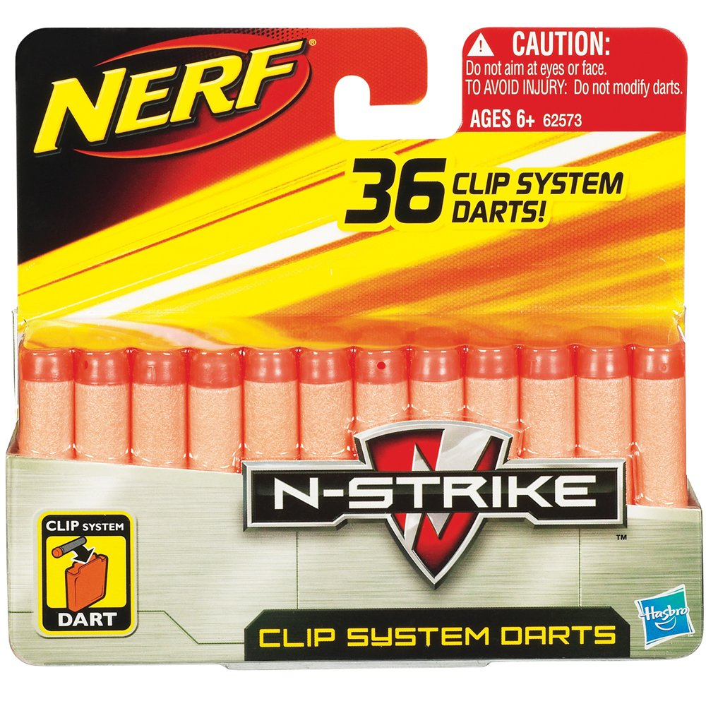 Hasbro - Nerf 62573 - Nerf N-Strike Clip System Darts 36er Nachfllpack, Softdarts