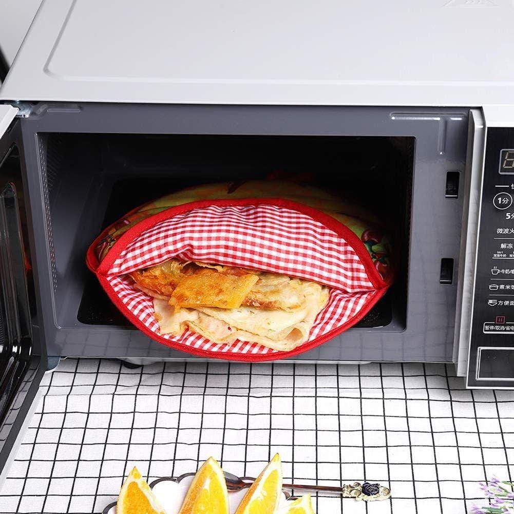niyin204 Pochette Plus Chaude Nourriture Sac Isolant Tortilla Cr/êpe Pochette Plus Chaude Four Micro-Onde Panier Repas Respectable