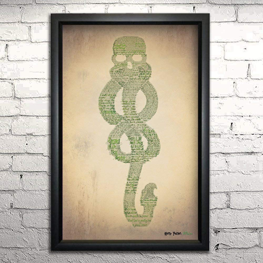 Amazon Harry Potter Villains Word Art Print 11x17 Framed