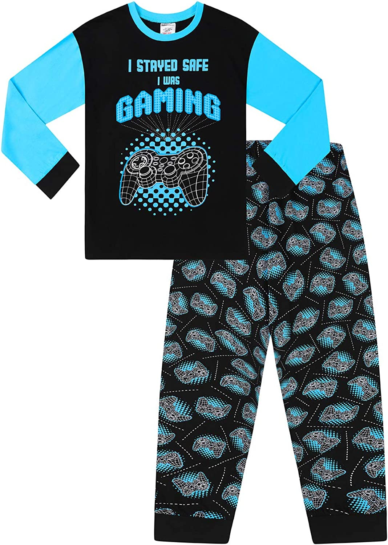 Pijama largo de 9 a 16 años para niños con texto en inglés