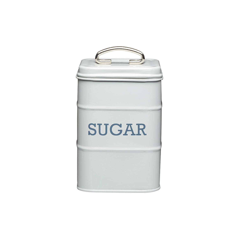 Living Nostalgia Sugar Canister, 11x17cm, Grey, Tagged KitchenCraft LNSUGARGRY