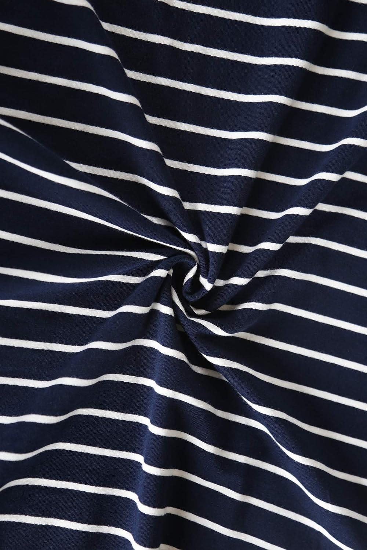 Smallshow Vestido de Lactancia/Mujer Manga Larga Rayas Enfermer/ía Camisa Vestido
