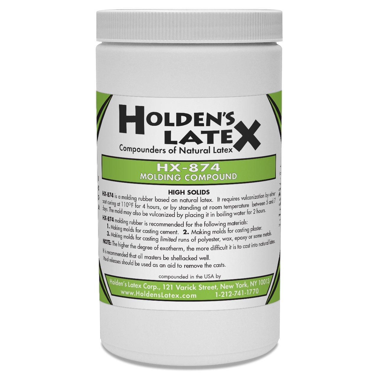 HX-874 Natural Liquid Latex Mold Making Rubber (Gallon) Holden' s Latex HX874G