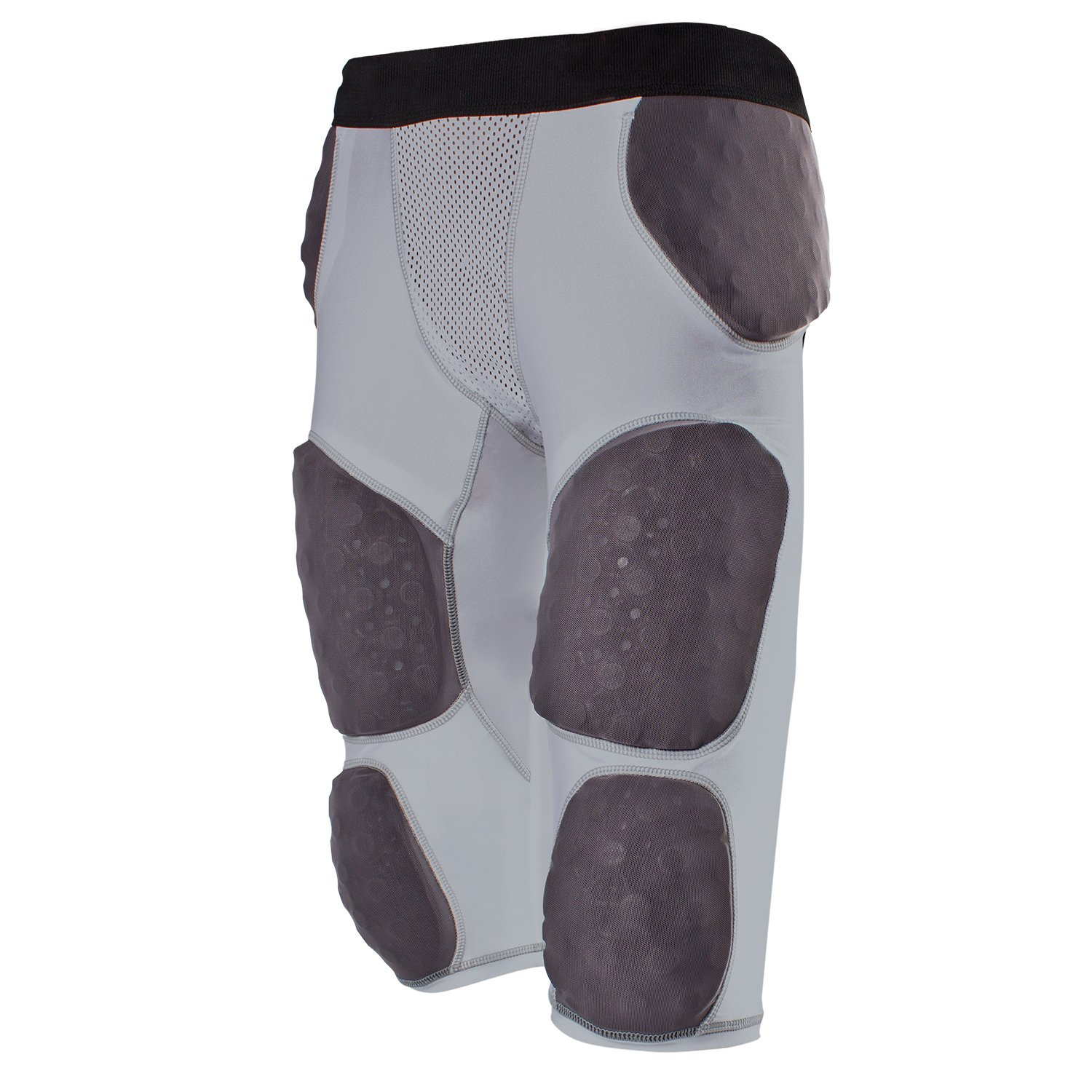 Cramer Lightning 7 Pad Football Girdle With Integrated Hip, Tailbone and Thigh Pads, Anti-Bacterial and Moisture-Wicking Fabric, Great Protection Without Impeding Athletic Performance, Gray, X-Large by Cramer (Image #1)